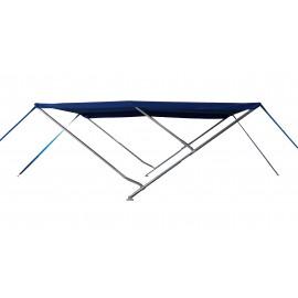 Capota / Toldo Para Barcos de Alumínio (3 arcos) - 2,3m de Comprimento