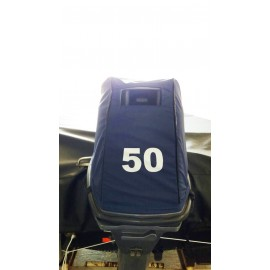 Capa protetora para capô de motor popa na cor azul - 40HP, 50HP, 60HP
