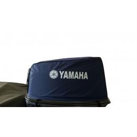 Capa protetora para capô de motor popa na cor azul